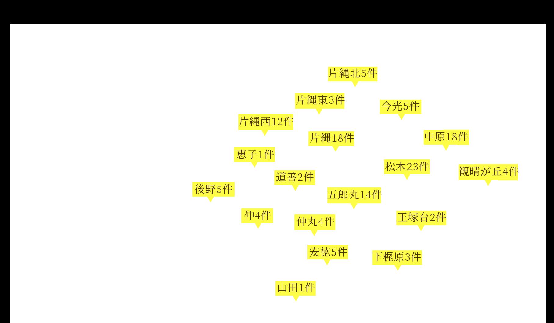 那珂川市のマップ